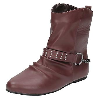 Damen-Spot auf flache Ankle-Boots