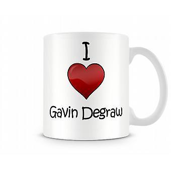 Gavin DeGraw imprimé J'aime la tasse