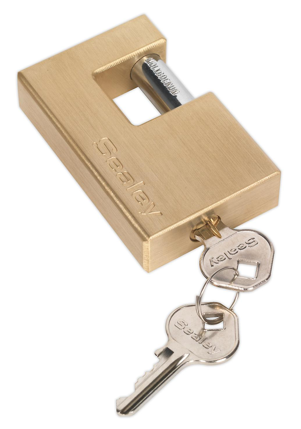 Sealey Pl209 Brass Shutter Padlock 76Mm