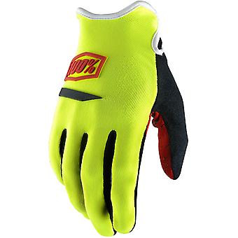 100 Percent Yellow 2017 Ridecamp Womens MTB Gloves