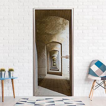 Foto tapet på døren - mystiske korridor