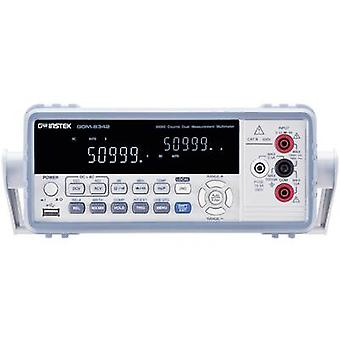 GW Instek GDM-8342USB Bench multimeter Digital Calibrated to: Manufacturer's standards (no certificate) CAT II 600 V Di