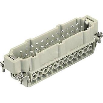 Pin inset Han® E 09 33 024 2601 Harting 24 + PE Screws 1 pc(s)