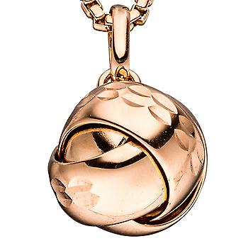 Gold plated pendant pendant node engulfed 925 sterling silver red gold
