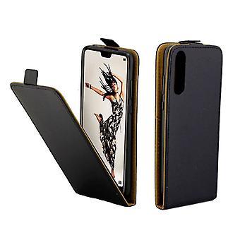 Fliptasche Premium Schwarz für Huawei P20 Pro Hülle Case Cover Schutz Zubehör Etui Neu