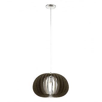 EGLO Cossano 450mm mörk brun trä Globe siluett hänge