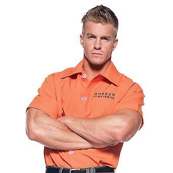 Więzień Jailbird skazaniec karnego więzień rolę grać Mens strój Shirt pomarańczowy