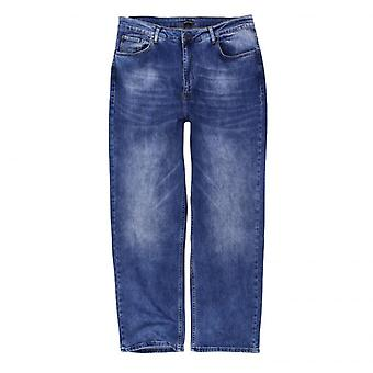 LAVECCHIA men's plus size jeans Stonewashed dark blue