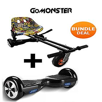 "Monster Hoverkart & 6,5 ""Bluetooth Hoverboard Hip Hop gå Monster Bundle"