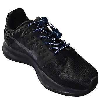 Reflective Navy Elastic Lock Lace