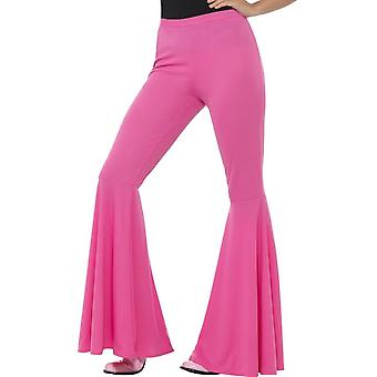 Flared Trousers, Ladies, Pink