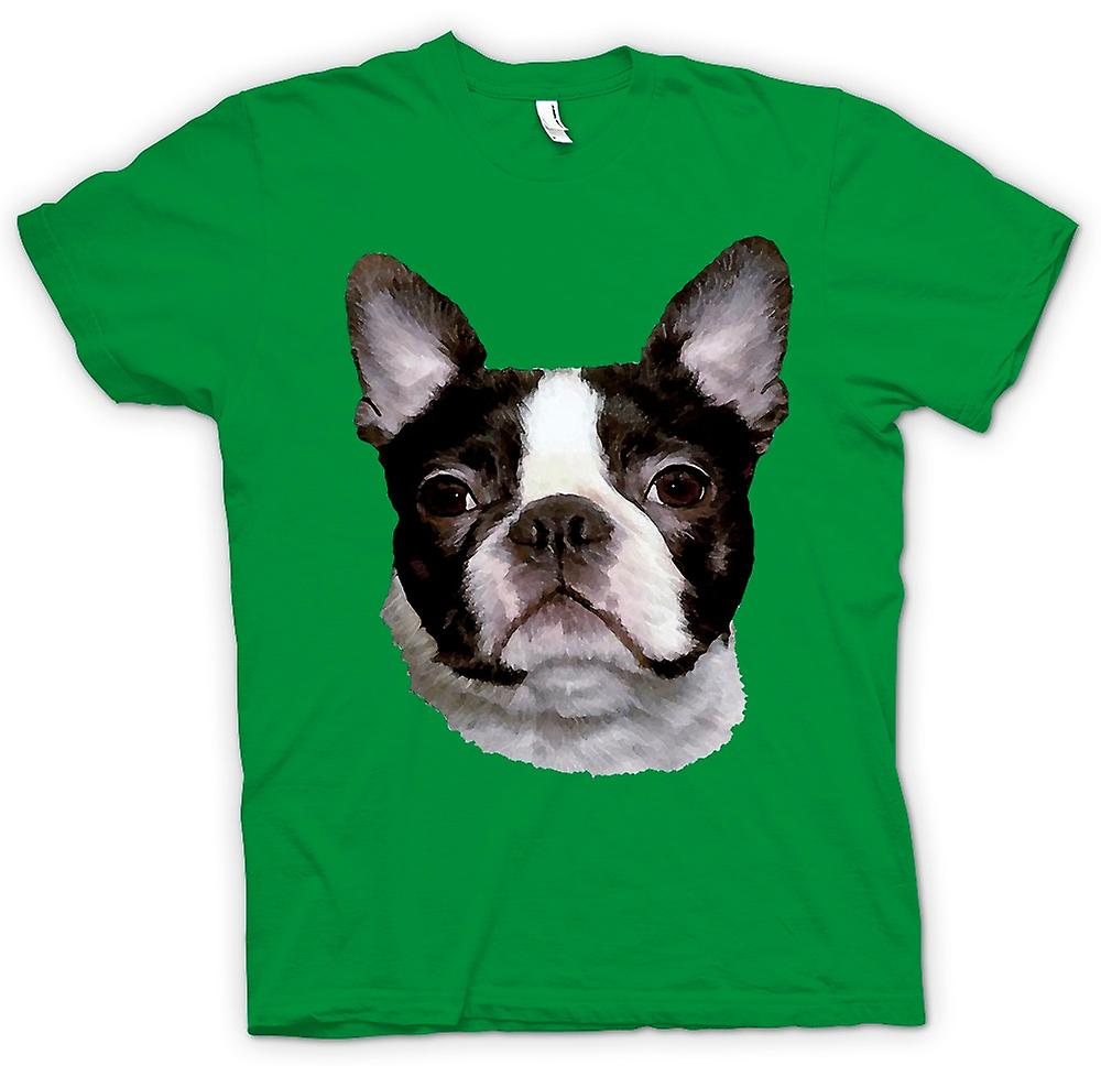 Mens T-shirt - Boston Terrier Hund - Hund