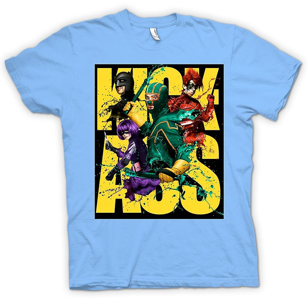 Mens T-shirt - Kick Ass Super Hero - B Movie - Poster
