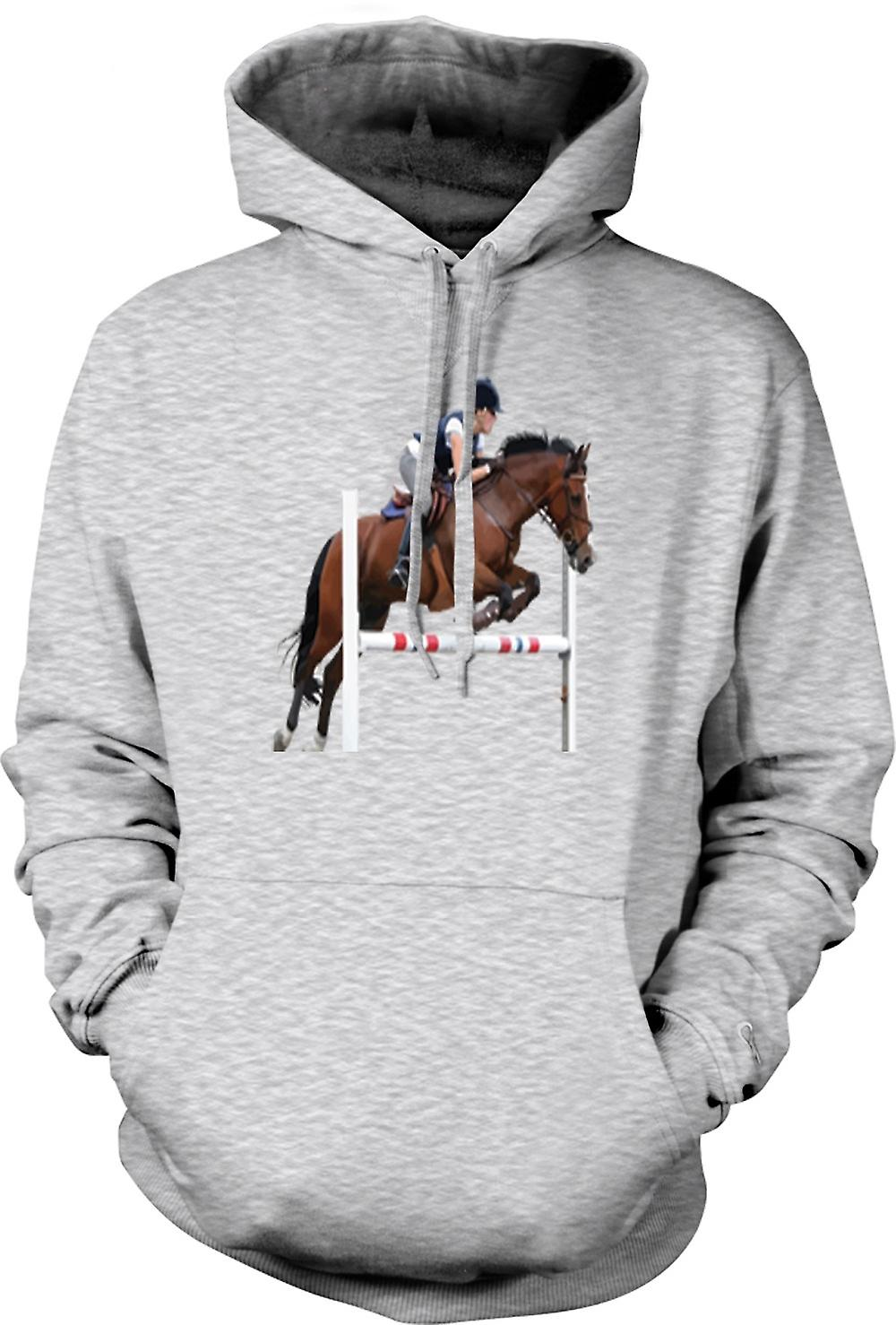 Mens Hoodie - Show Jumping Horse