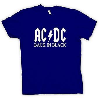 レディース t シャツ - AC/DC バックイン ブラック - ロック
