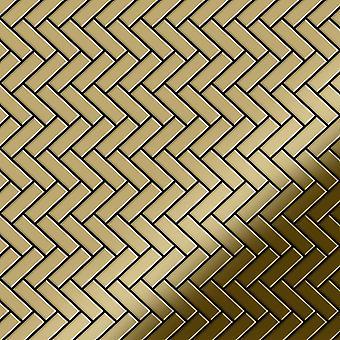 Metal mosaic Titanium ALLOY Herringbone-Ti-GM
