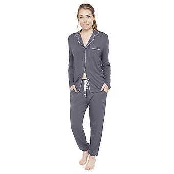 Cyberjammies 4080 Women's Aspen Dark Grey Pyjama Top