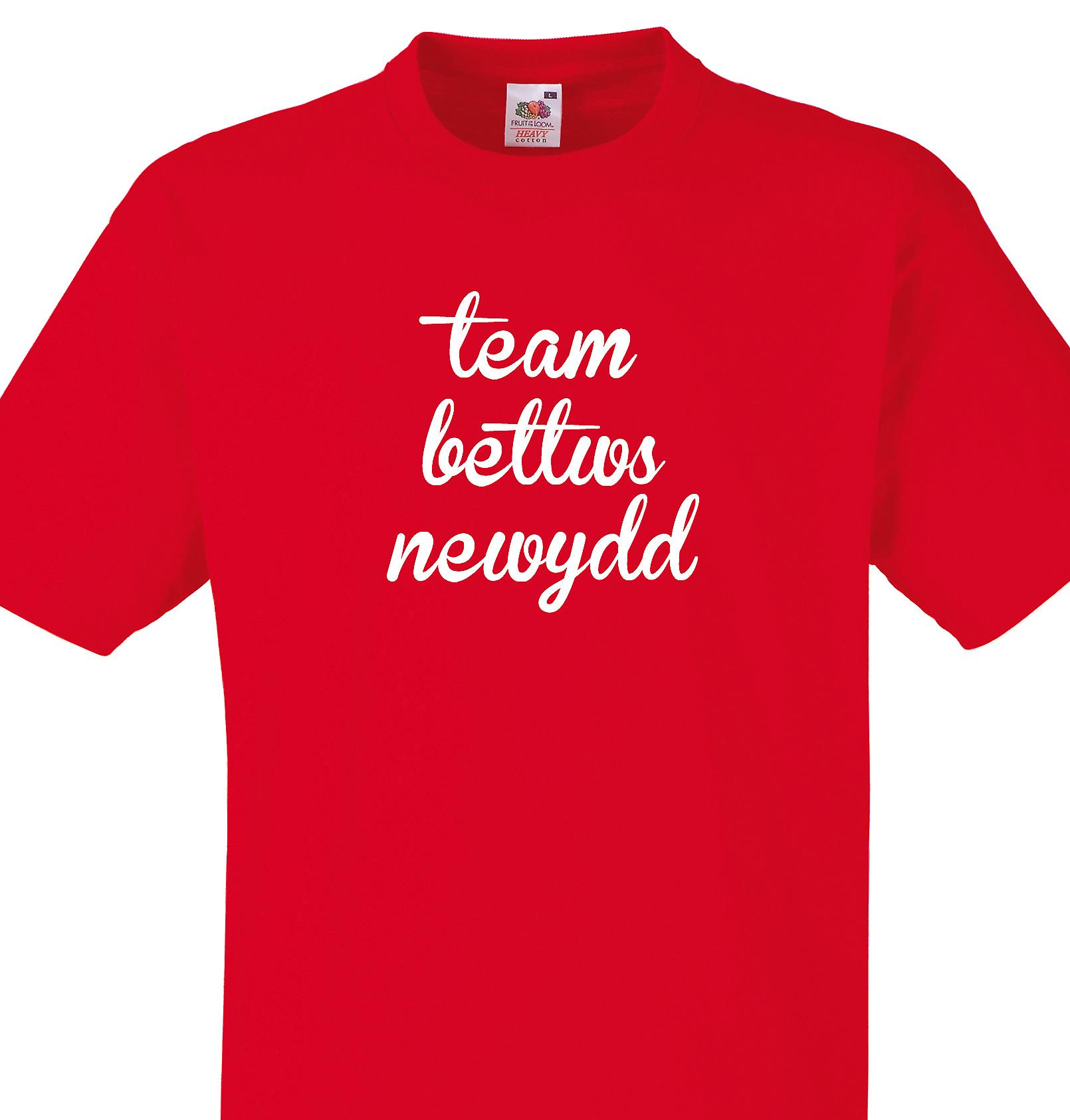 Team Bettws newydd Red T shirt