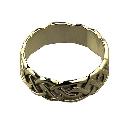 18ct Gold 6mm Celtic Wedding Ring Size L