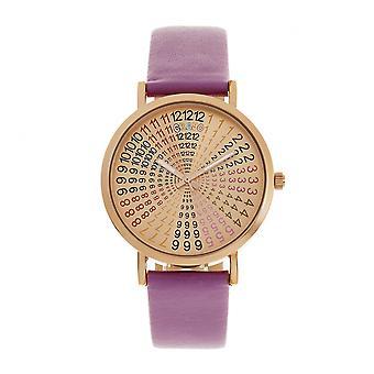 Crayo Fortune Unisex Watch - Rose Gold/Purple
