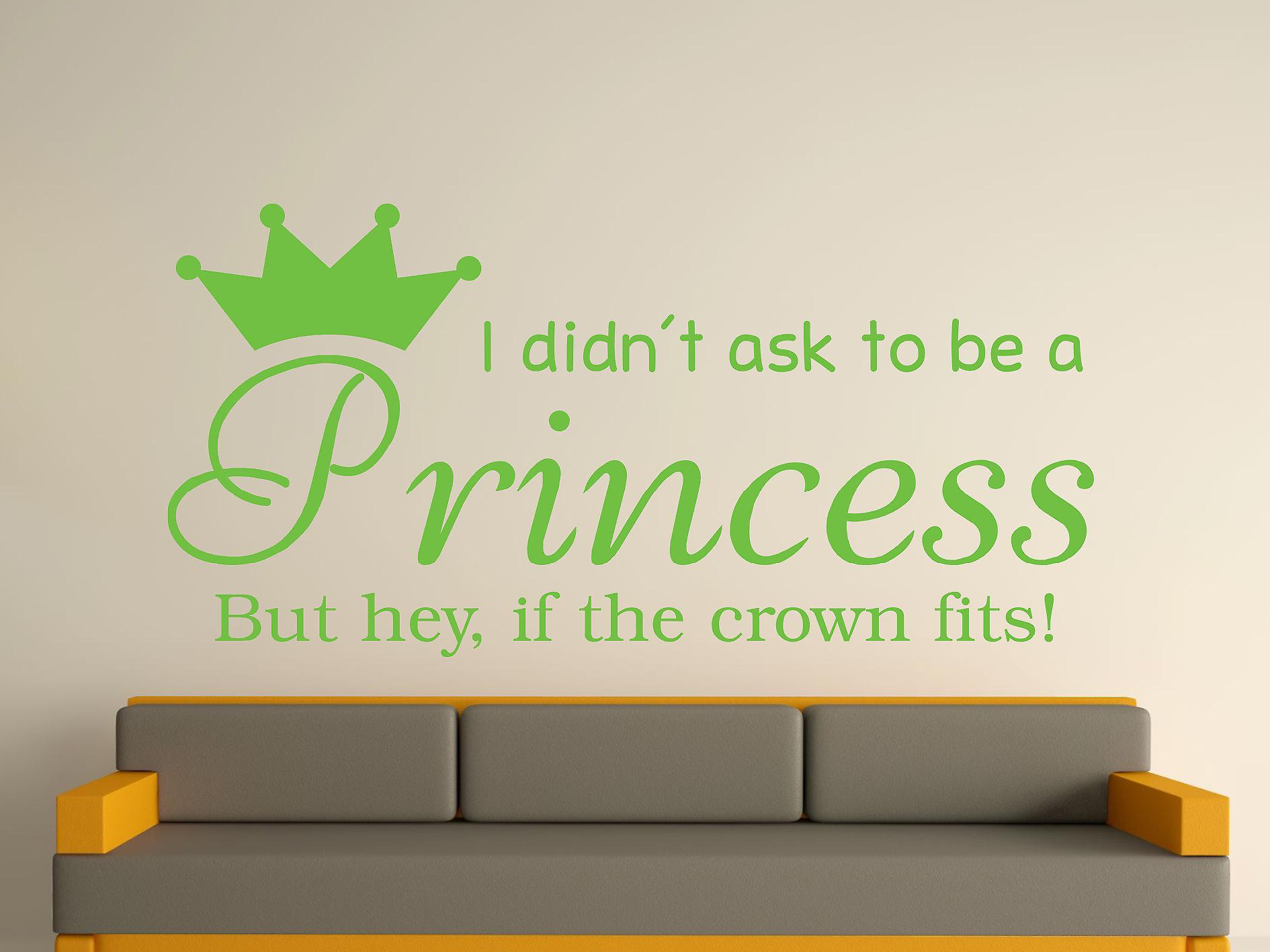 Being A Princess v2 Wall Art Sticker - Apple Green