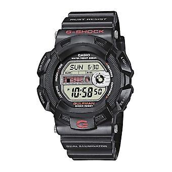 Casio quartz digital watch with black resin strap G-9100-1ER
