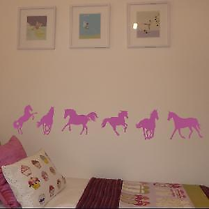 Horses Pack of 6 Wall Stickers