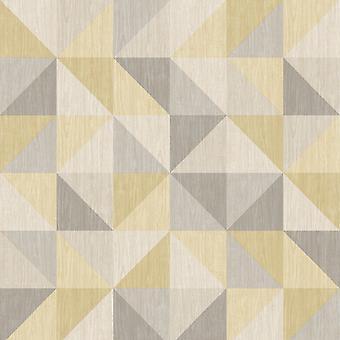 A Street Prints Geometric 3D Effect Wallpaper Squares Triangles Luxury Modern