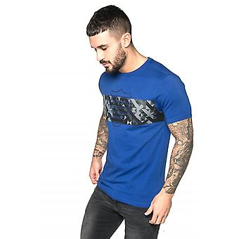 883 Police Marina Graphic Print Crew Neck T-Shirt | Electric Blue