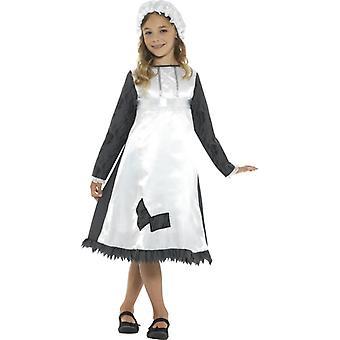Victoriaans meisje kostuum