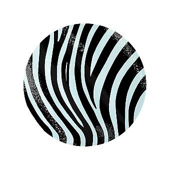 Grindstore Zebra Stripes Circular Glass Chopping Board