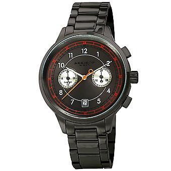 Akirbos XXIV AK1071GN Men's Quarz Dual Time Bracelet Watch