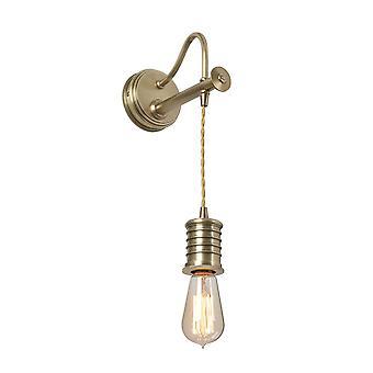 Elstead - 1 Light Wall Light - Aged Brass - DOUILLE1 AB