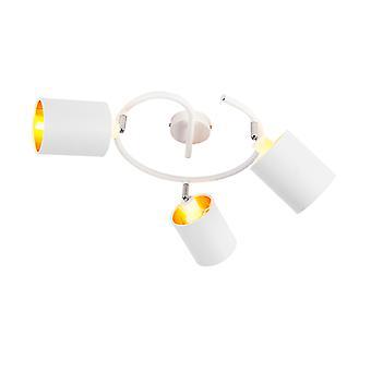 QAZQA Lámpara de Techo Moderna 3 Blanco - Alto