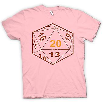 Womens T-shirt - Dungeons And Dragons D20 Dice - Gamer