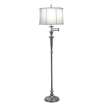 Arlington Swing Arm Floor Lamp Antique Nickel