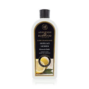 Ashleigh & Burwood 1 Litre (1000ml) Premium Fragrance Diffusion Lamp Oil Refill Bottle Sicilian Lemon