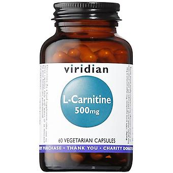 Viridian L-Carnitine 500mg Veg Caps 60 (017)
