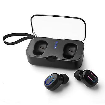 Auriculares Bluetooth v5.0 tws invisibles mini estéreo binaural llamada ipx5 auriculares deportivos a prueba de sudor