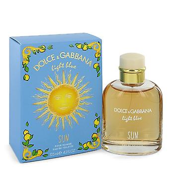 Light Blue Sun by Dolce & Gabbana Eau De Toilette Spray 4.2 oz / 125 ml (Men)