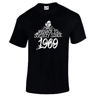 Men's 50th Birthday T-Shirt Menace Since 1969 Gifts For Him