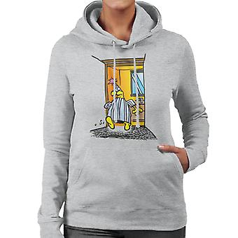 Grimmy Bathroom Run Women's Hooded Sweatshirt