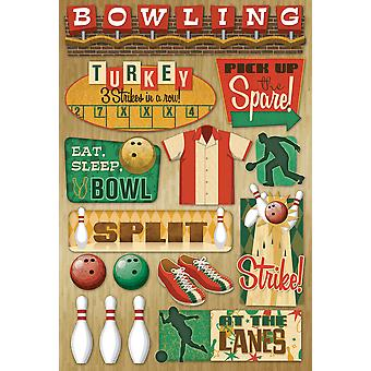 Bowling Cardstock Stickers 5.5