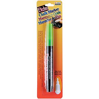 Bistro Chalk Marker Fine Point 1 Pkg Fluorescent Green 482 C F4