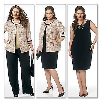 Misses' Women's Jacket, Dress, Skirt And Pants  B5 8  10  12  14  16 Pattern B5719  B50