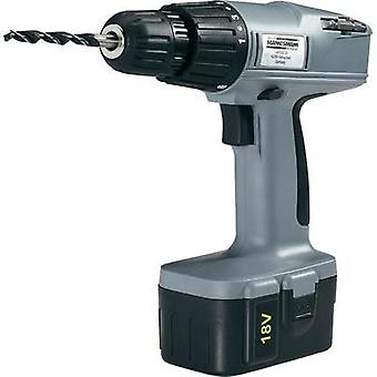 Brüder Mannesmann M 17800 Cordless screwdriver 18 V 1.1 Ah NiCd incl. accessories, incl. rechargeables, incl. case