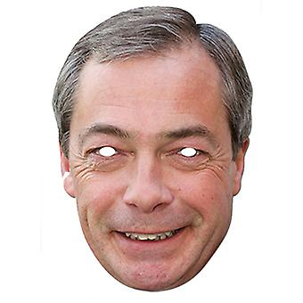 Nigel Farage UKIP Leader Celebrity Card Party Face Mask
