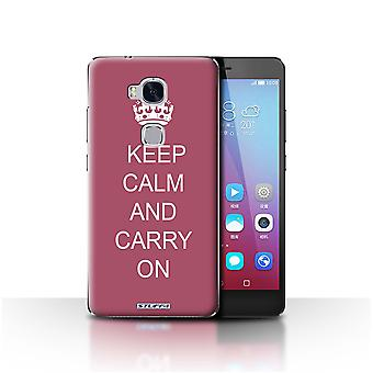 STUFF4 Custodia/Cover per Huawei Honor 5 X/GR5/trasportare su/Maroon/Keep Calm