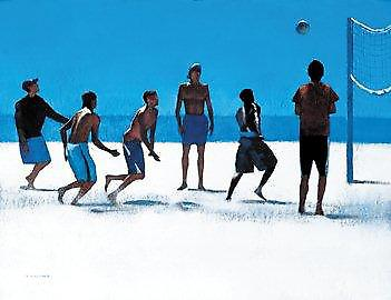 Peter Nardini print - volleyboll, Venice Beach