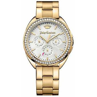 Juicy Couture dame Capri guld Tone rustfrit stål sølv Dial 1901479 Watch